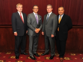 Members of the Society of Trial Lawyers with Joseph W. Balesteri